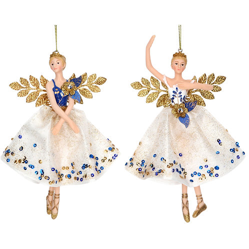 Blue and Gold Fairy Decoration (set of 2)