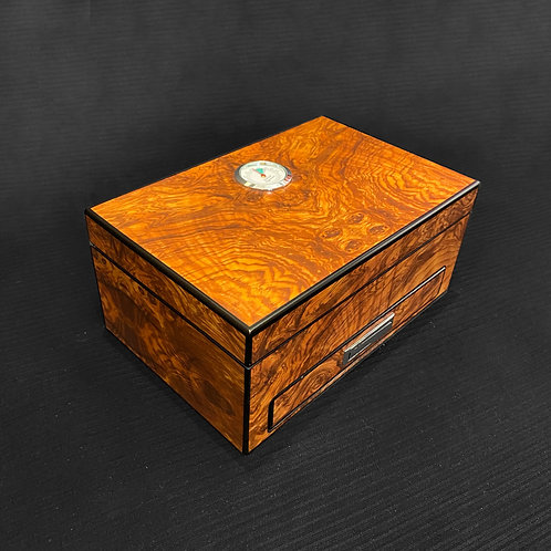 Humidor with ashtray insert in elm burl
