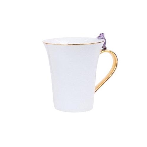 Mug with Purple Cat Detail