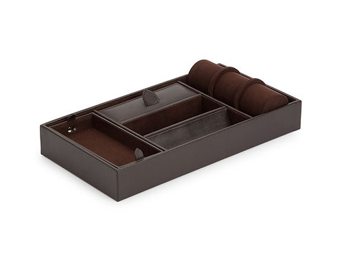 BLAKE VALET TRAY WITH CUFF - BROWN
