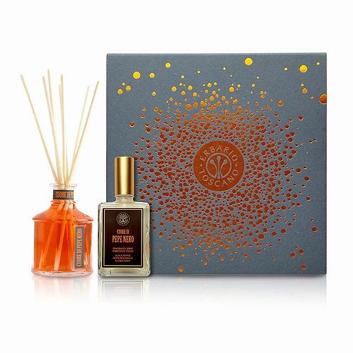 GIFT BOX DIFFUSER AND FRAGRANCE & LINEN SPRAY BLACK PEPPER