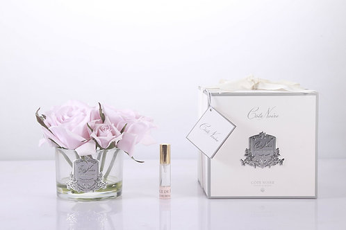COTE NOIRE PERFUMED NATURAL TOUCH 5 ROSES - CLEAR - FRENCH PINK