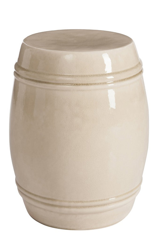 Ceramic Stool Beige