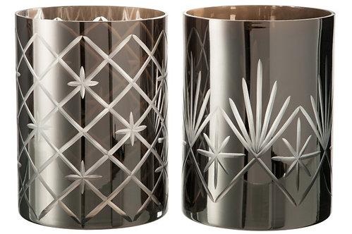 Hurricane Antique Glass Dark Grey