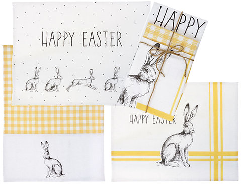 """KITCHEN TOWELS""""HAPPY EASTER"""" S/3"""