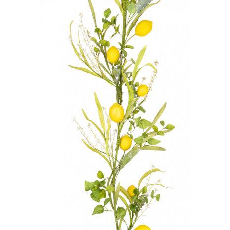 Faux Lemon Foliage Garland - 168cm