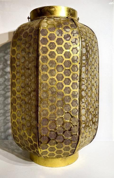 Gold Lantern in Honeycomb Pattern