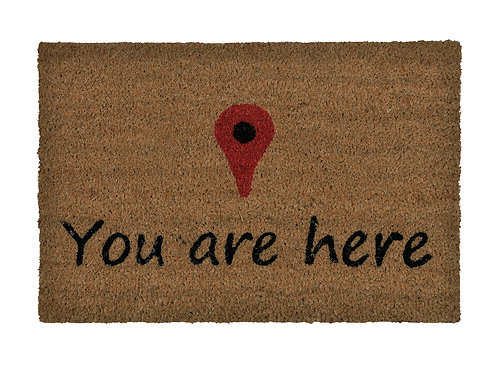 """YOU ARE HERE"" DOORMAT"