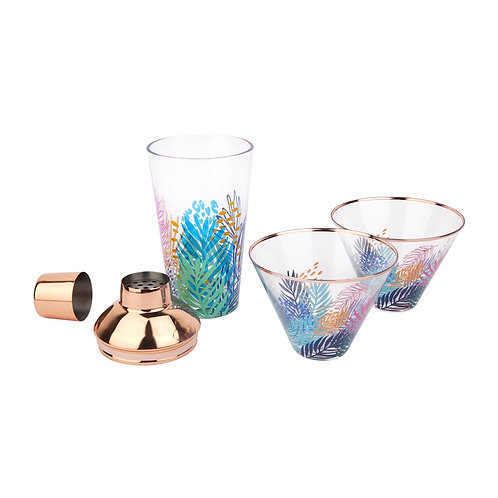 SUNNYLIFE - LUXE SHAKER & GLASS SET | ELECTRIC BLOOM