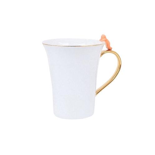 Mug with Orange Cat Detail
