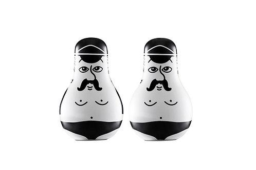 Friends Salt & Pepper Set Black/White