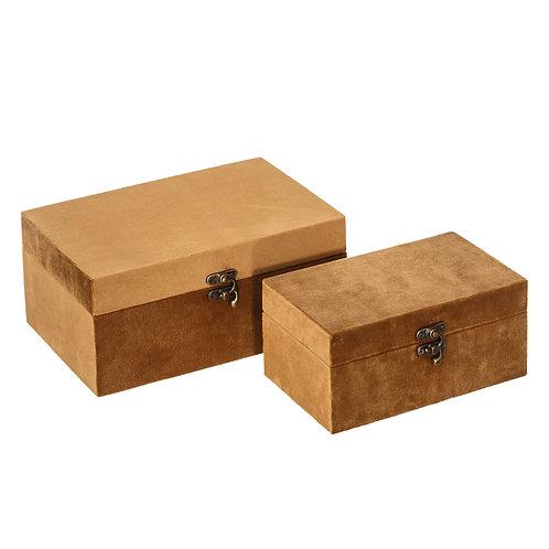 SET OF 2 BOXES VELVET