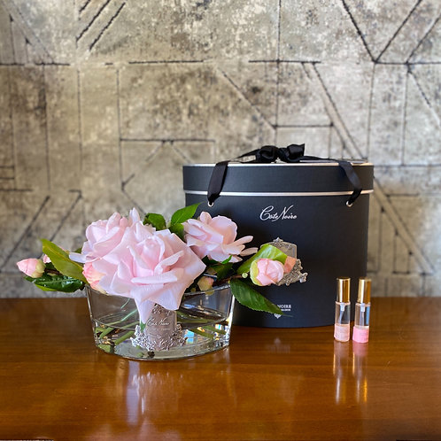 COTE NOIRE - OVAL FRENCH PINK - BLACK BOX