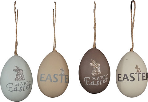 "EGGS""HAPPY EASTER"" S/4"