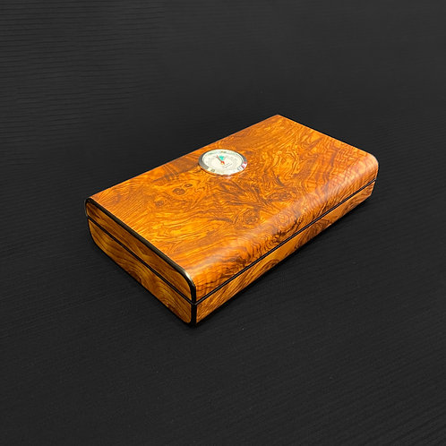 Small humidor in round elm burl