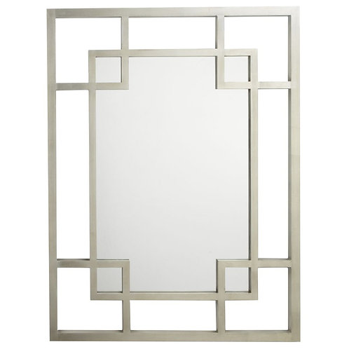 Silver Leaf Rectangle Mirror