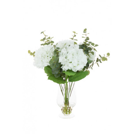 Hydrangea in Footed Vase