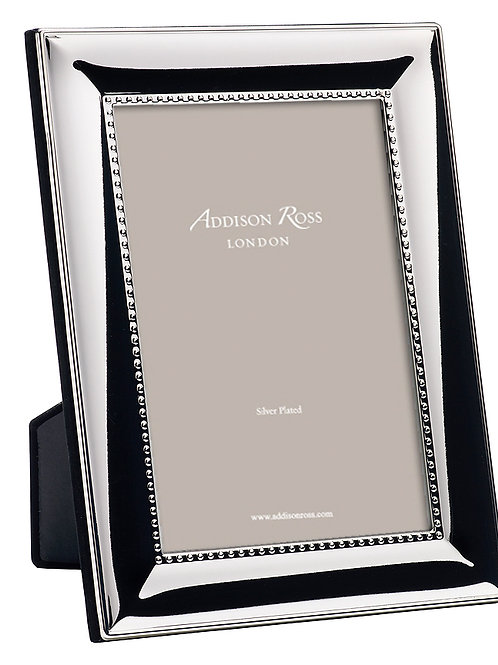 BEADED SILVER PLATED PHOTO FRAME (4x6IN)
