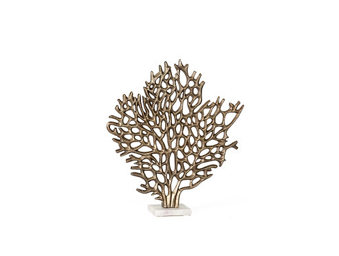 Coral tree aluminium and marble statue