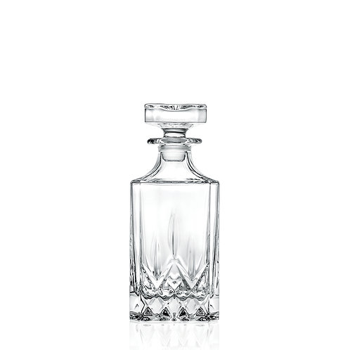 SQUARE DECANTER WITH STOPPER