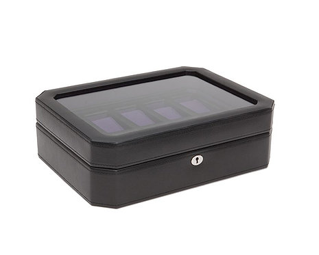 WINDSOR 10 PIECE WATCH BOX - PURPLE BLACK