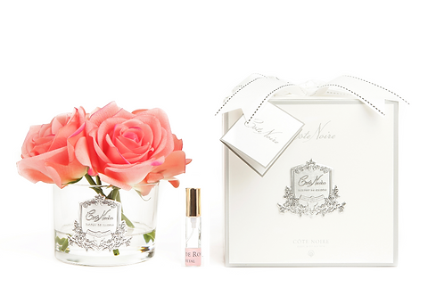 COTE NOIRE PERFUMED NATURAL TOUCH 5 ROSES - CLEAR - WHITE PEACH