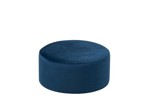Puff Round Velvet Blue