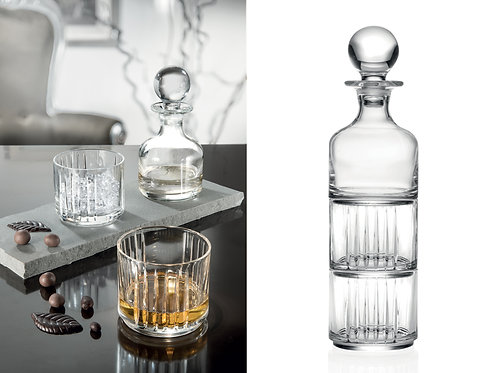 CRYSTAL STACKABLE DECANTER