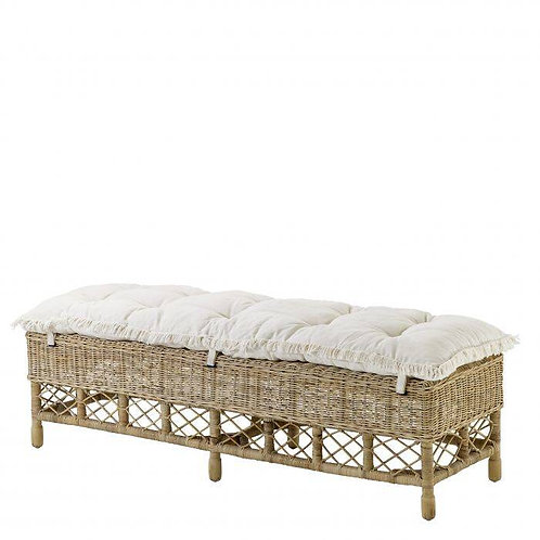BENCH PALETTE - Natural slimit rattan
