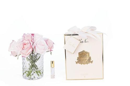 COTE NOIRE - HERRINGBONE FLOWER - MIXED ROSE BUDS - CLEAR