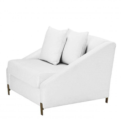 CHAIR CANDICE - Avalon white | brushed brass legs