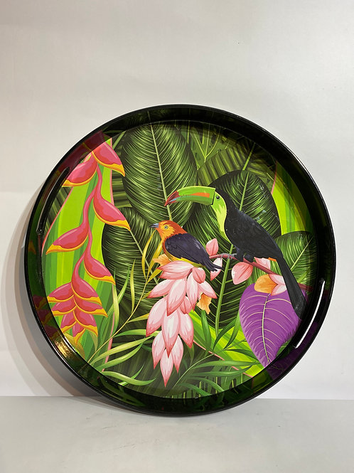 Melamine Tray in Tropical Pattern