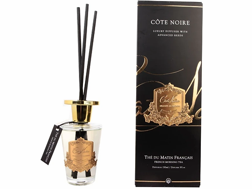 COTE NOIRE - 150ML DIFFUSER SET - FRENCH MORNING TEA - GOLD