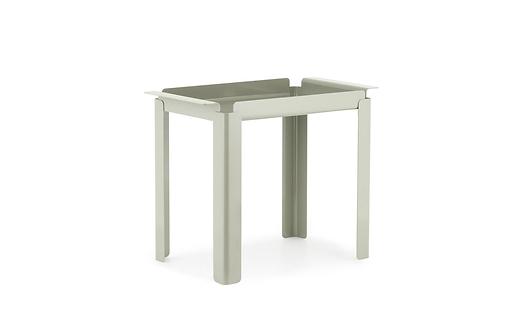 Box Table 33 x 60 cm Cement Grey