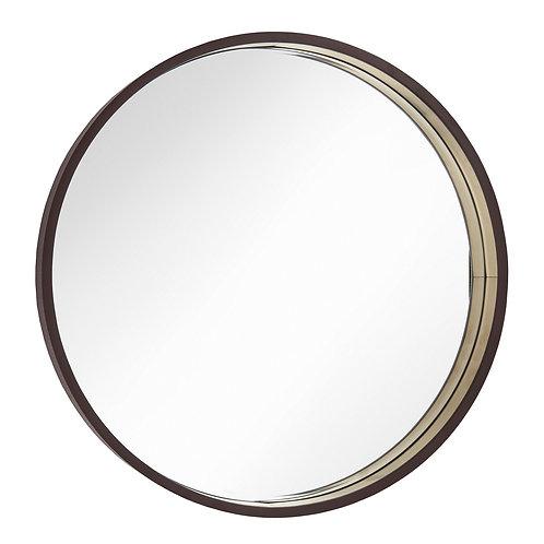 Round Mirror Diam. 100cm in Chocolate