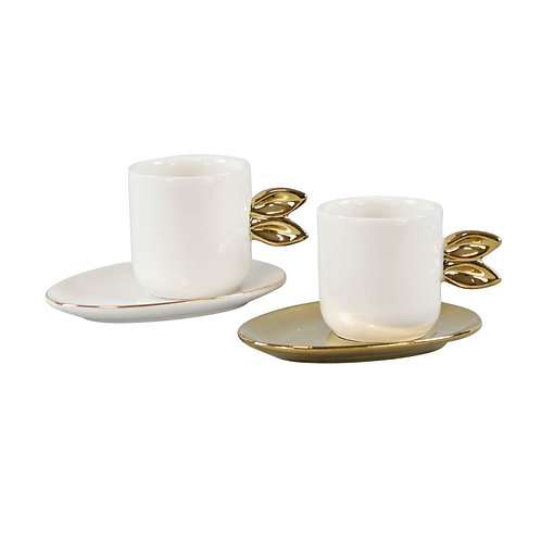 Set of 2 Espresso Cups with Bunny Ears