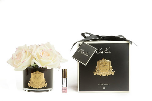 COTE NOIRE PERFUMED NATURAL TOUCH 5 ROSES - BLACK - PINK BLUSH