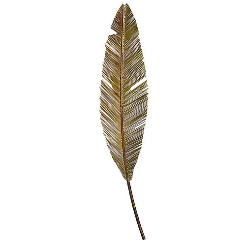 Decorative Golden Feather Wall Art