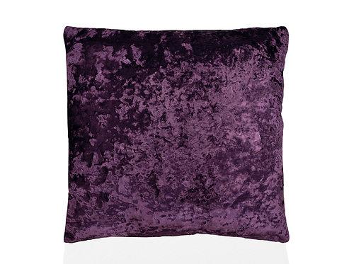Velvet cushion Dark purple 45 x 45 cm