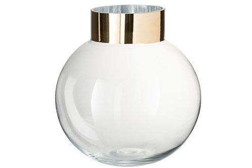 Vase Ball Ann Glass/Metal