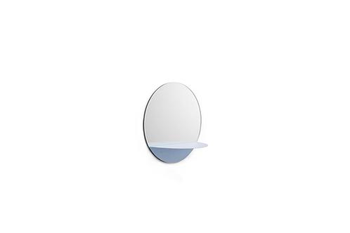 Horizon Mirror Round Light Blue