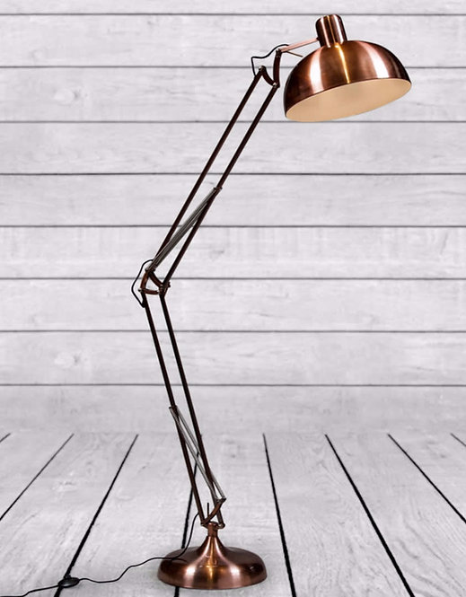 VINTAGE COPPER EXTRA LARGE CLASSIC DESK STYLE FLOOR LAMP