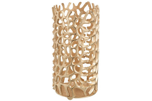 Gold Coral Candle Holder