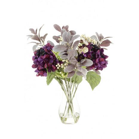 Elegant Plum Hydrangea Vase