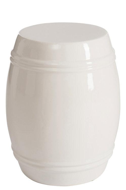 Ceramic Stool White