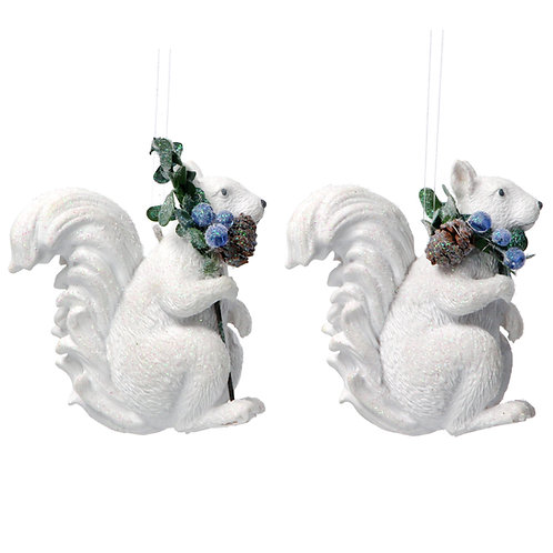 Squirrels with Eucalyptus (set of 2)