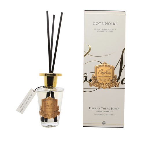 COTE NOIRE 150ML DIFFUSER SET - JASMINE FLOWER TEA - GOLD