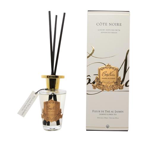 COTE NOIRE 150ML DIFFUSER SET - JASMINE FLOWER TEA - GOLD