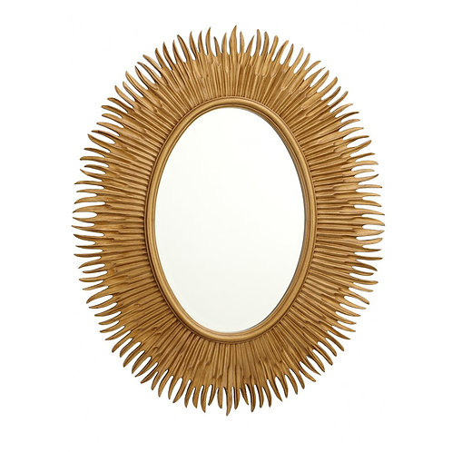 Gold Finish Oval Mirror