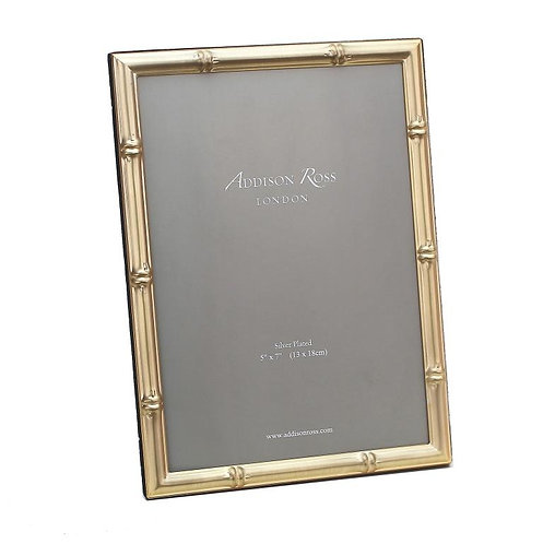 BAMBOO MATTE GOLD PHOTO FRAME (5X7IN)